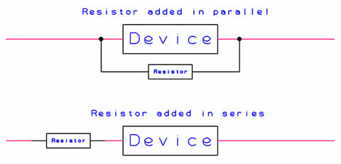Diagram of series vs parallel connection